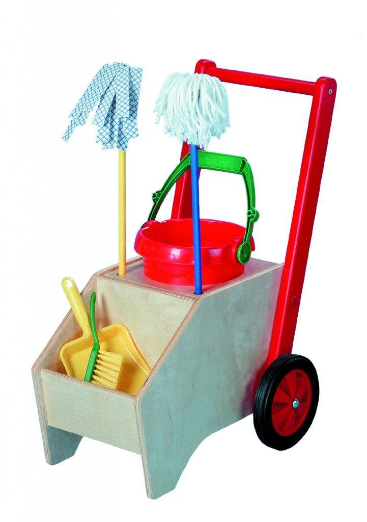Vinkelau Kinder Putzwagen Holz
