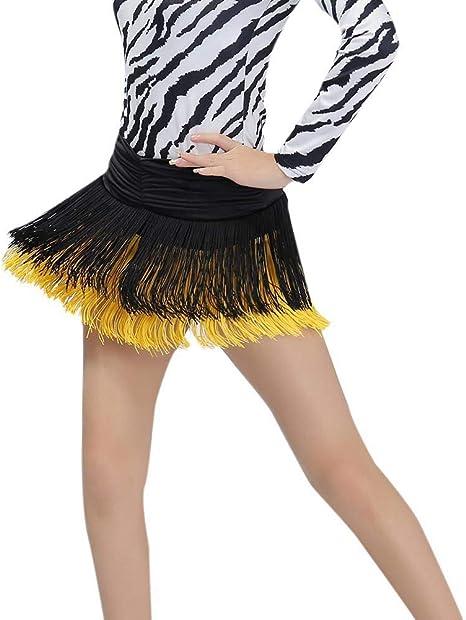 Leezo - Falda de Baile Latina para Mujer, Falda de Baile, Falda de ...