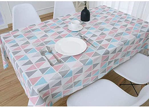 Kitchen Cotton Table Cloth Rectangular Plaid Print Dining Table Cover Tablecloth