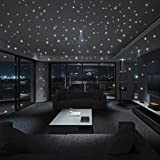 Clearance! Wall Stickers,Canserin Glow In The Dark Star Wall Stickers 104Pcs/407Pcs Round Dot Luminous Kids Room Decor Home Decor (407pcs Round Dot)
