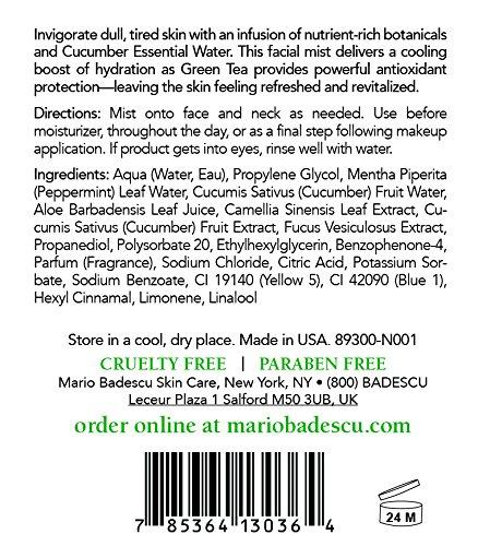 Mario Badescu Facial Spray with Aloe,Cucumber and  Green Tea, 8 Fl Oz by Mario Badescu (Image #1)