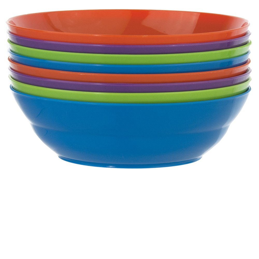 Sonoma 28-ounce Plastic Cereal/Soup Bowls | set of 8 in 4 Classic Colors