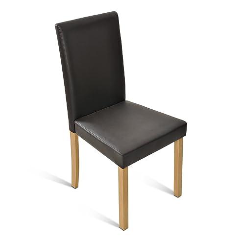 Sam® Polster-Stuhl, Esszimmer-Stuhl Mit Lederimitat In Braun