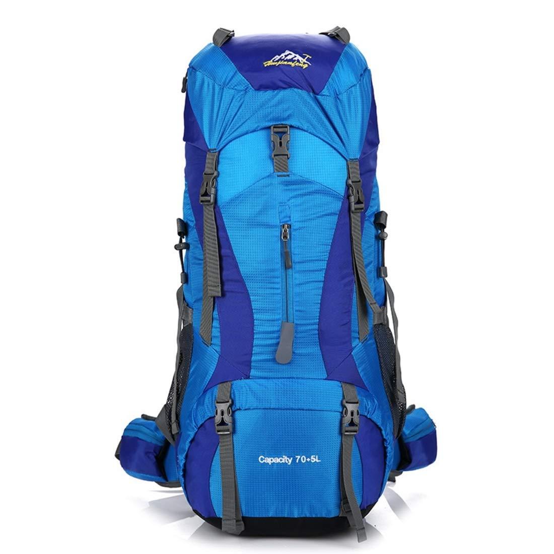 Derenu アウトドアキャンプショルダーバッグ大容量カジュアルファッション男性と女性のショルダーバッグプロフェッショナル登山バッグ (色 : ブルー)  ブルー B07QMPHY4F