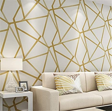 Amazoncom Metallic Geometric Wallpaper For Walls Roll