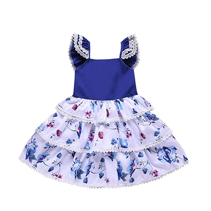 753621400c711 Amazon.com: Okgirl Baby Toddler Infant Dress Little Girls Summer Dresses  Flower Sundress 1Pcs (6M/4T): Clothing