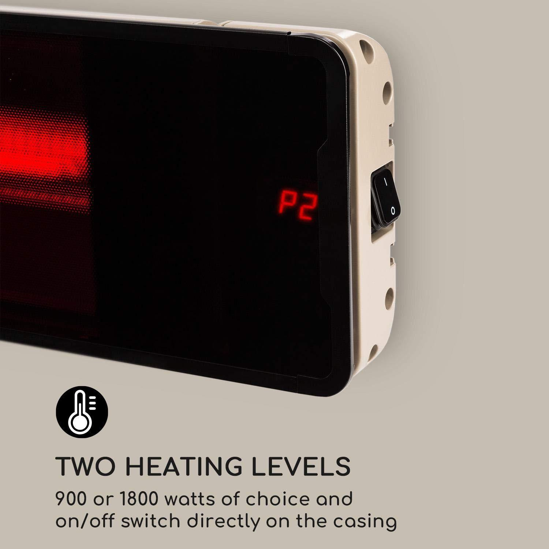 Blumfeldt Phantom Plus Calefactor /• 800//1600//2400W /• Interruptor de Encendido en la Carcasa /• Emisor de Calor de Carbono /• Panel de Vidrio /• Certificado IP55 /• Mando a Distancia /• Aluminio /• Gris