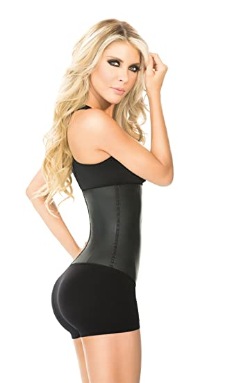 0edbcd0504 Waist Trainer And Shaper - Black 3 Hook Latex Waist Cincher Belt - By Ann  Chery at Amazon Women s Clothing store