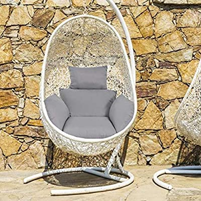 Hanging Egg Hammock Chair's Cushions, Hanging Basket Swing Chair Lumbar Back Support Cushion Pillow, Swing Seat Cushion Pillow for Indoor Outdoor Patio Yard Garden Beach Office (Only Cushion No Chair): Home & Kitchen