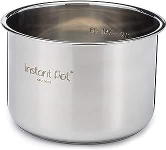 Instant Pot Olla eléctrica, recipiente de acero inoxidable, olla eléctrica a presión 6 L metalizado: Amazon.es: Hogar