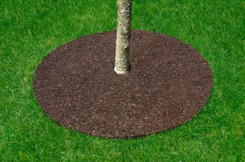 Rubber Tree Mulch Ring - Rubber Tree Ring for Landscaping, 36
