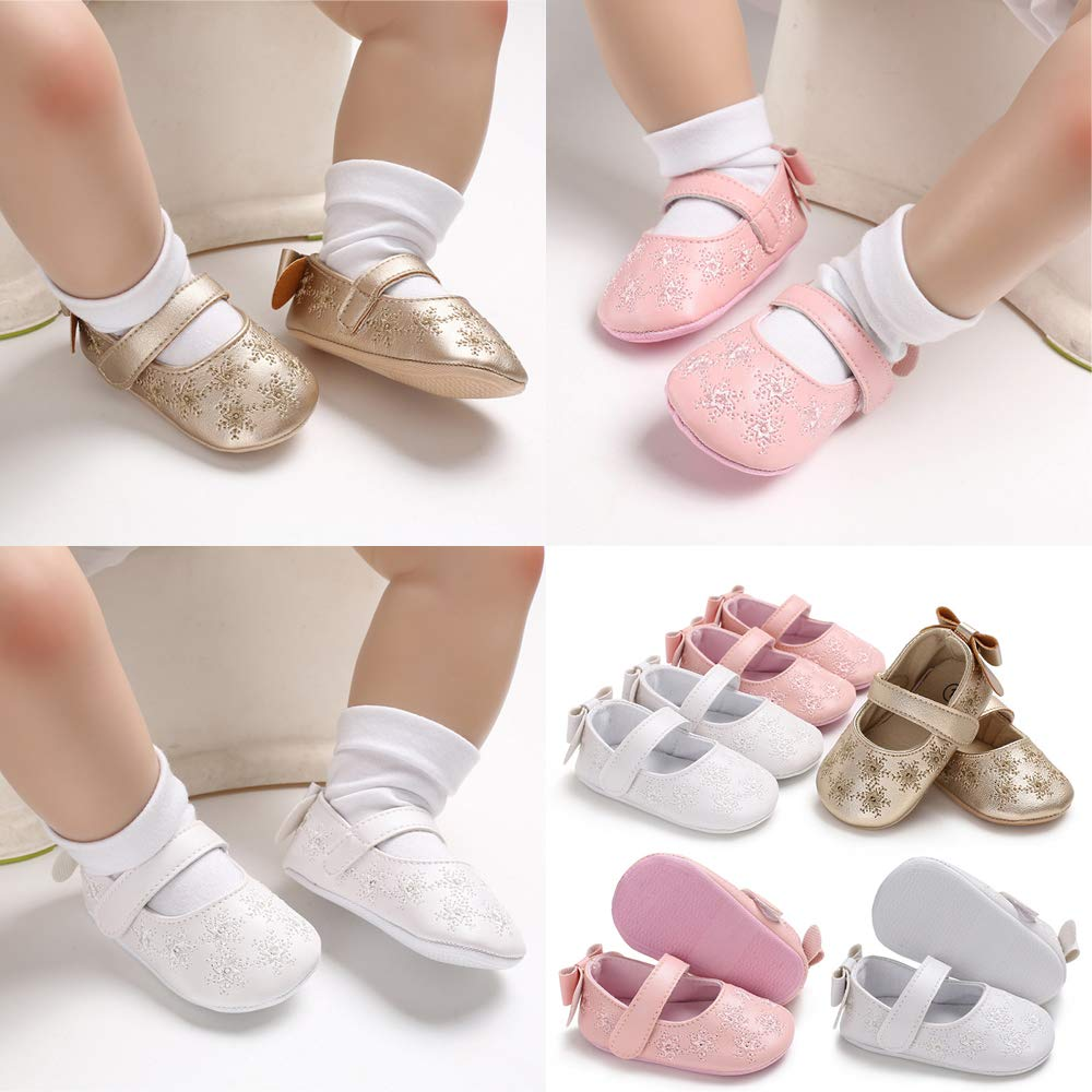 Tutoo Baby Boy Girl Mary Jane Flats Shoes Summer Flower Bow Knot Dress Infant First Walkers Sandals