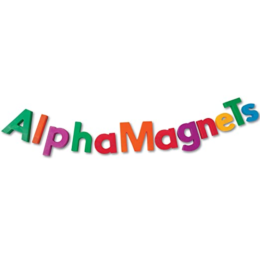 Amazon.com: Educational Insights Multicolored AlphaMagnets and ...