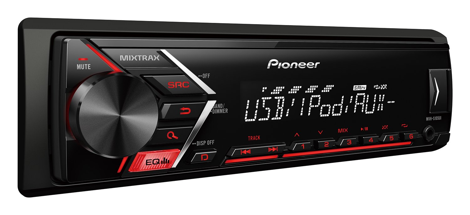 Pioneer MVH-S105UI Car Multimedia Tuner with iPod/iPhone, USB, AUX-in & 1x RCA Pre-Out by Pioneer (Image #2)
