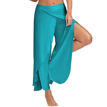 Pantalón para mujer, deportivo para yoga, ligero, para verano o playa, cómodo y holgado