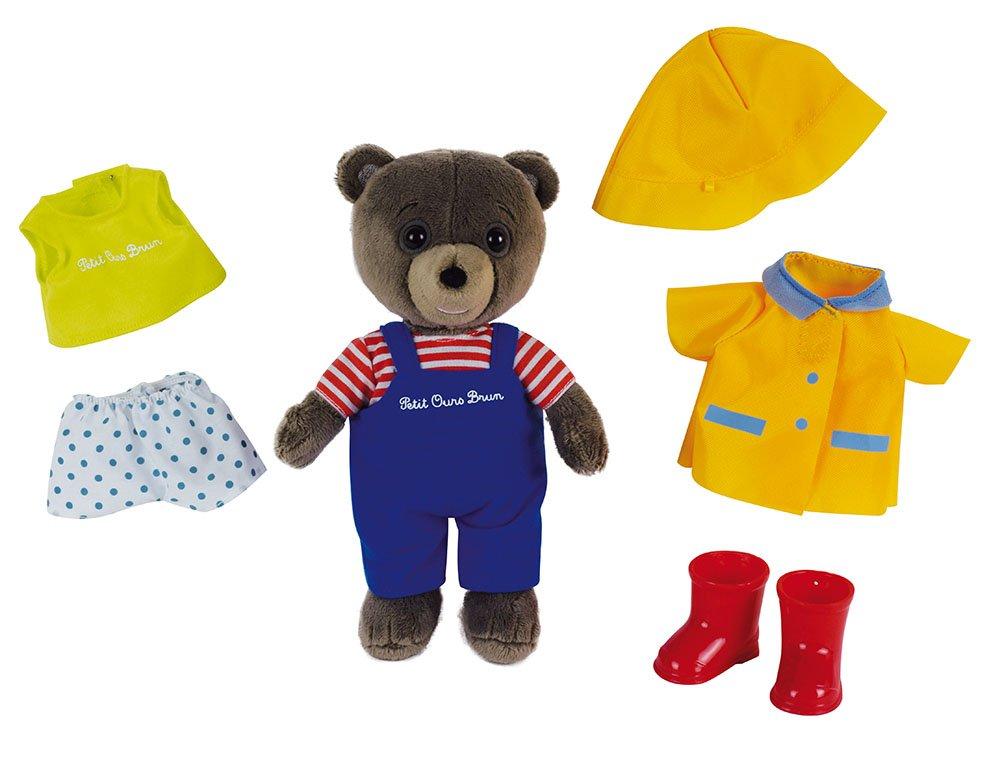 Jemini - 023272 - Petit Ours Brun Coffret avec Peluche +/- 20 cm à habiller avec 3 tenues CIJEP