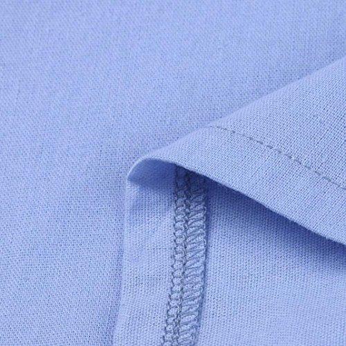 Maxi Lunga Donna Pianura Sera Camicia Manica Vestito Dress Estate shirt Allentata Kaftan In Blu Lungo Casual Cotone Casaul Spiaggia Italily Autunno Collo Piedi T Elegante xq04wnIFpF