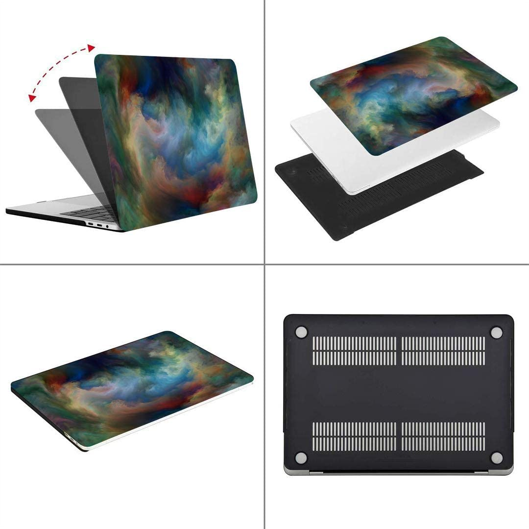 MacBook Pro Case Abstract Series Composition Color Movement MacBook Air 13 A1932 Plastic Case Keyboard Cover /& Screen Protector /& Keyboard Touch ID