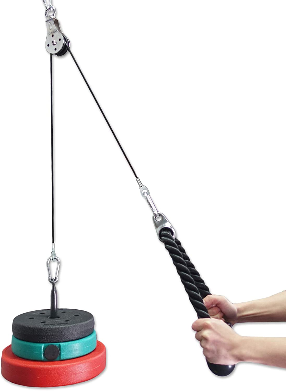 Details about  /J Bryant Fitness High and Low Double Pulley Cable Machine Attachment System A...
