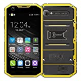 AMA(TM) 5'' Kenxinda Proofings W7 4G LTE Smartphone - Unlocked Android 5.1 Octa Core 2GB RAM 16GB ROM IP68 Dual SIM Dual Standby Bluetooth 4.0 GPS Android Phone (Yellow)
