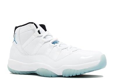 new arrival cfd3d 9c176 Amazon.com   Nike Men s Air Jordan 11 Retro Columbia Legend Blue White  Leather Sneaker 10 D(M) US   Basketball
