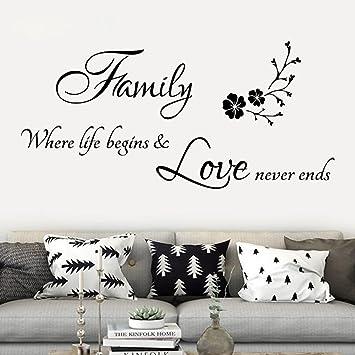 Amazon Com Wall Stickers Yezijin Removable Vinyl Quotes Family