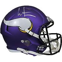$269 » Cris Carter Autographed Minnesota Vikings Purple Riddell Speed Replica Full Size Helmet w/Beckett COA