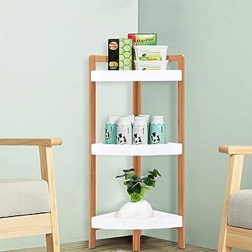Cool Costway 3 Tier Corner Shelf Free Standing Wooden Ladder Storage Display Shelves For Bathroom Kitchen Living Room Bedroom Home Office Indoor 94X 37 X Download Free Architecture Designs Itiscsunscenecom