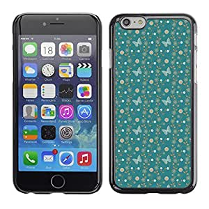 PatternViking PC Polycarbonate Aluminium Back Case Cover Apple Iphone 6 ( blue butterfly )