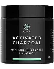 Blanqueador Dental de Carbón Activado de Coco Emblá - Mejor Polvo de Carbón Activado Natural Para