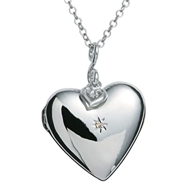 Hot Diamonds Starry Heart Silver and Diamond Pendant of 76cm elTdvv4