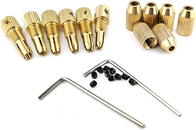2//2.3//3.17mm Brass Electric Gimlet Drill Chuck Clamp Twist Hand Drill Bit Collet