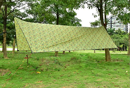 OneTigris Outdoor Hexagonal Camo Sil Tarp Waterproof & Ultralight RipStop Nylon Material 1310ft for Backpacking Hiking Camping (Camo) by OneTigris (Image #9)