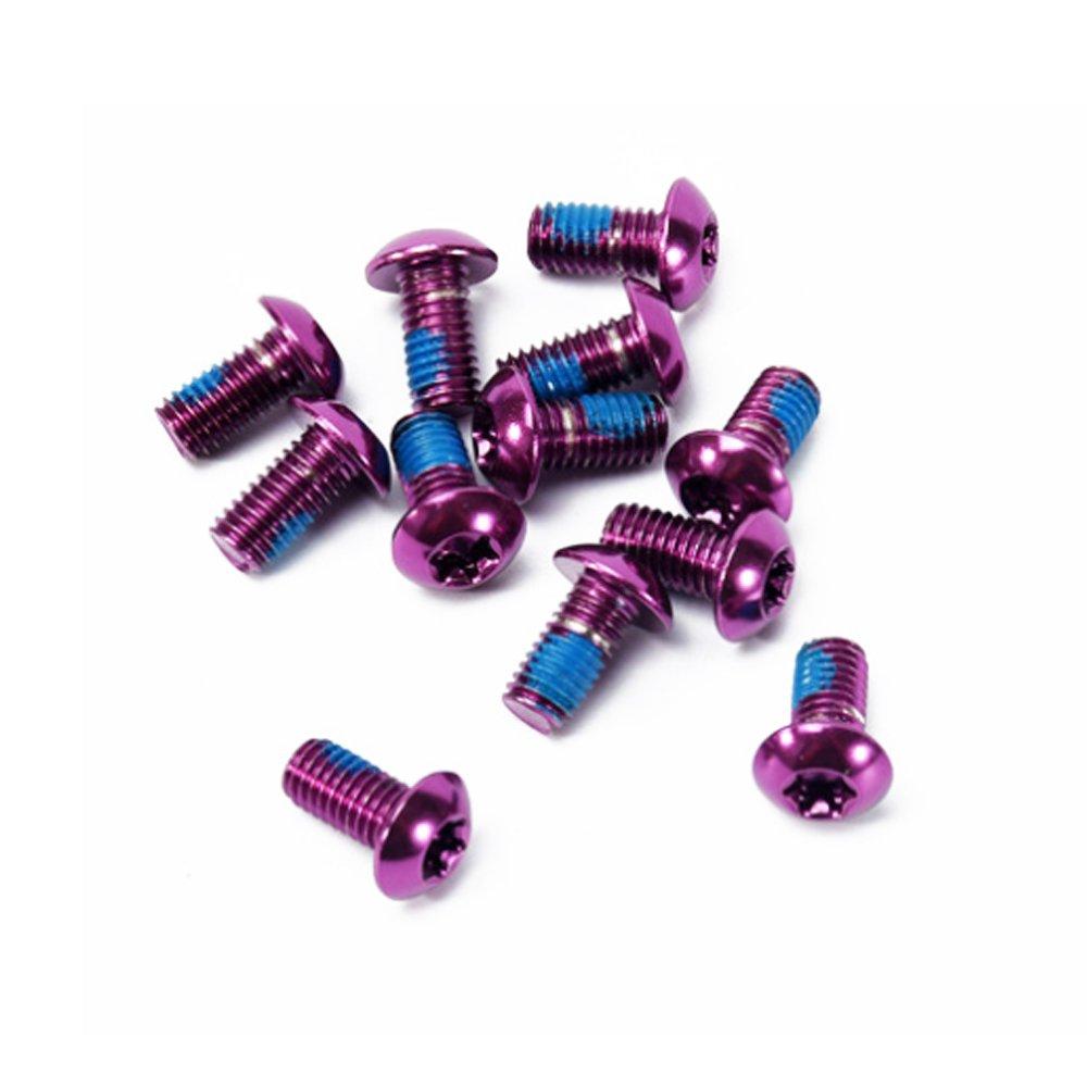 Satz von 12 St/ück Farbige Schrauben der Bremsscheibe Aluminiumlegierung Schraube M5 x 10MM Ndier Schrauben f/ür Fahrrad