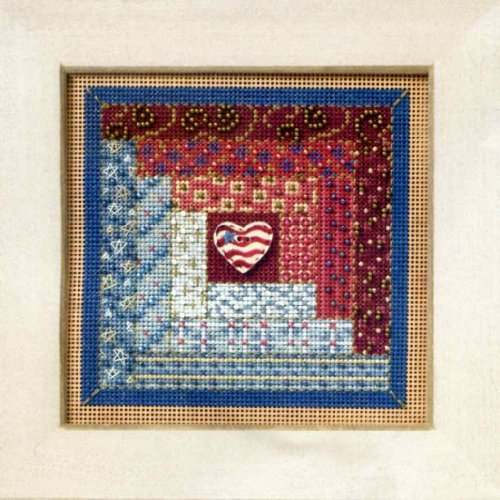 Log Cabin Quilt - Cross Stitch Kit (Cross Stitch Log Cabin)