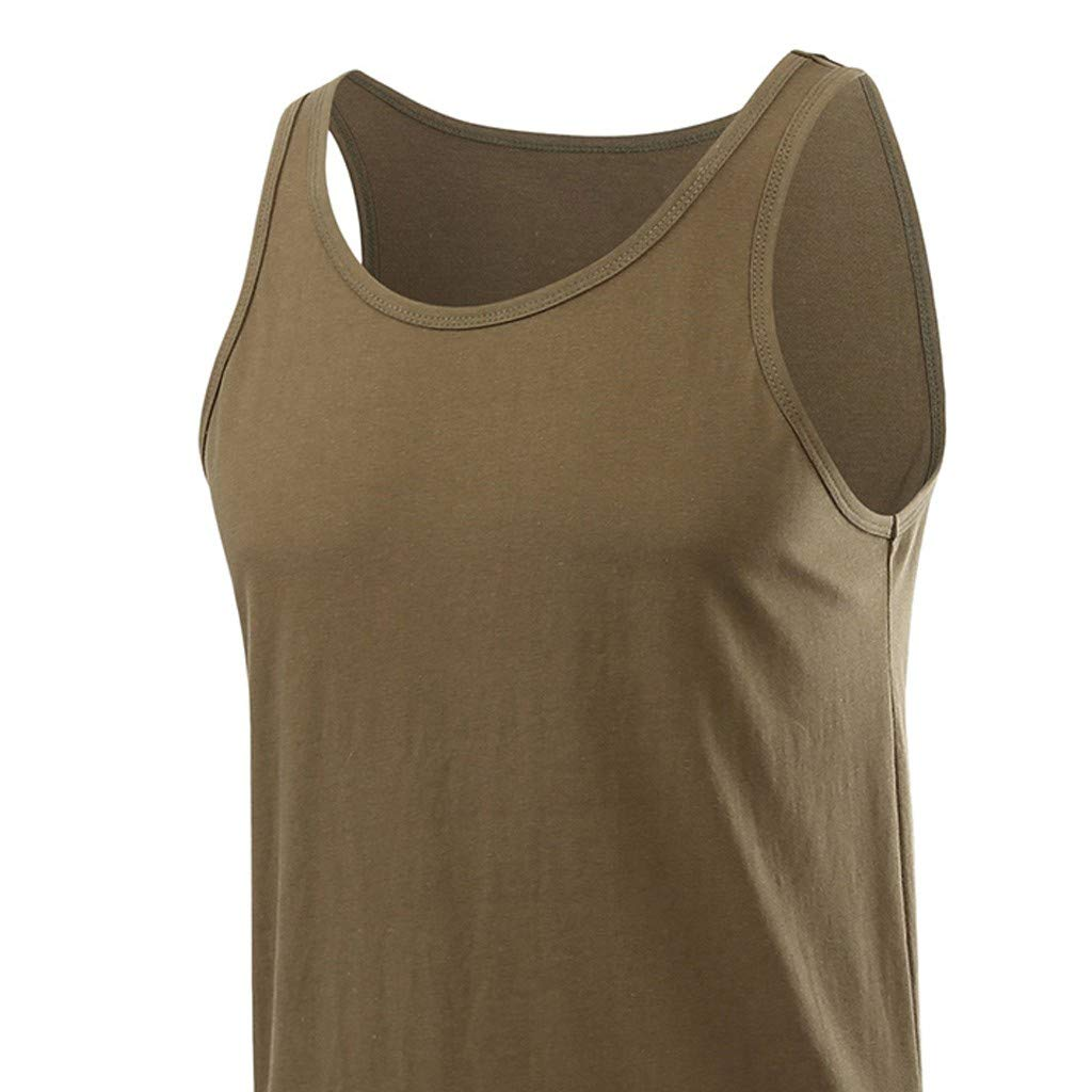 Slim Fit Tank top for Men Sleeveless Fitness Muscle Solid Bodybuilding Tight-Drying Vest Tops Blouses
