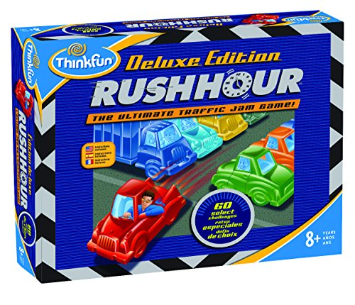 - ThinkFun Rush Hour Deluxe Traffic Jam Logic Game and STEM Toy – Tons of Fun With Over 20 Awards Won, International for Over 20 Years