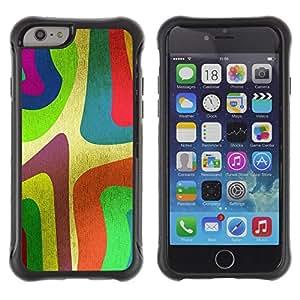 "Pulsar iFace Series Tpu silicona Carcasa Funda Case para Apple iPhone 6+ Plus(5.5 inches) , Wallpaper Colorfol neón Arte de la pintura de la raya"""