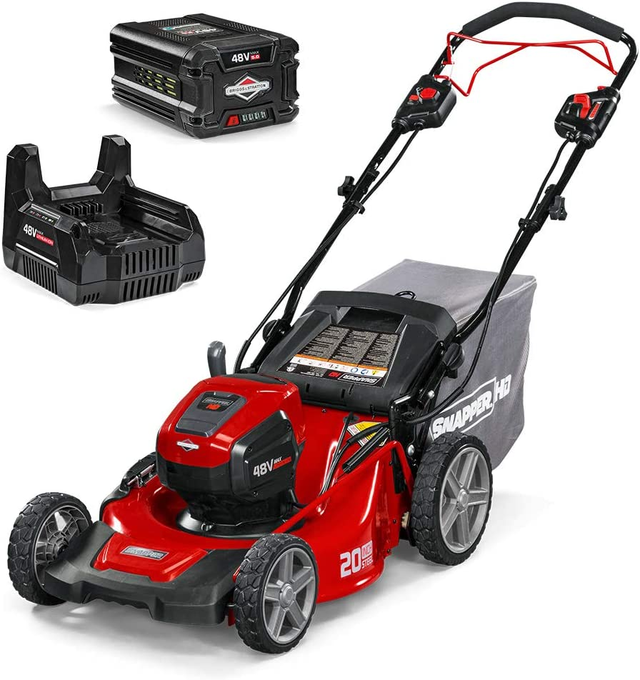 Snapper HD 48V MAX Cordless Electric Self-Propelled 20-Inch Lawn Mower  Best Cordless Electric Lawn Mower