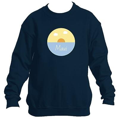 Maui Ocean Sunset - Hawaii Youth Fleece Crew Sweatshirt - Unisex