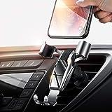 車ホルダー 携帯ホルダー スマホホルダー 片手操作可能/エアコン吹き出し口取り付け/自由調節可能/360度回転可能/4-6インチ多機種対応 Android & iPhone カーホルダー【DIVI】 (シルバー)