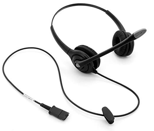 Amazon Com Call Center Headset With Noise Canceling Mic Quick