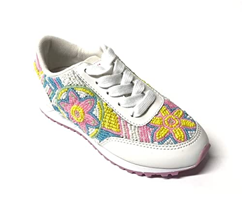 info for 33b68 5847b Lelli Kelly LK4810 Sneaker in Tessuto, Pelle e Perline Bianca