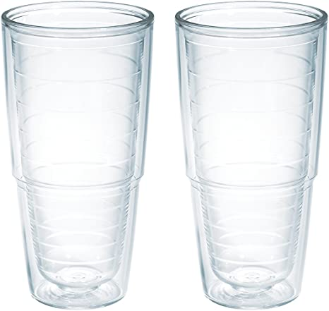 6c593b2738f Amazon.com: Tervis 1001833 Clear & Colorful Insulated Tumbler 2 Pack -  Boxed, 24 oz Tritan, Clear: Tervis Tumbler: Kitchen & Dining