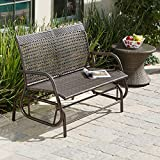 Cheap Maui Outdoor Swinging 4 ft. Outdoor Glider Bench