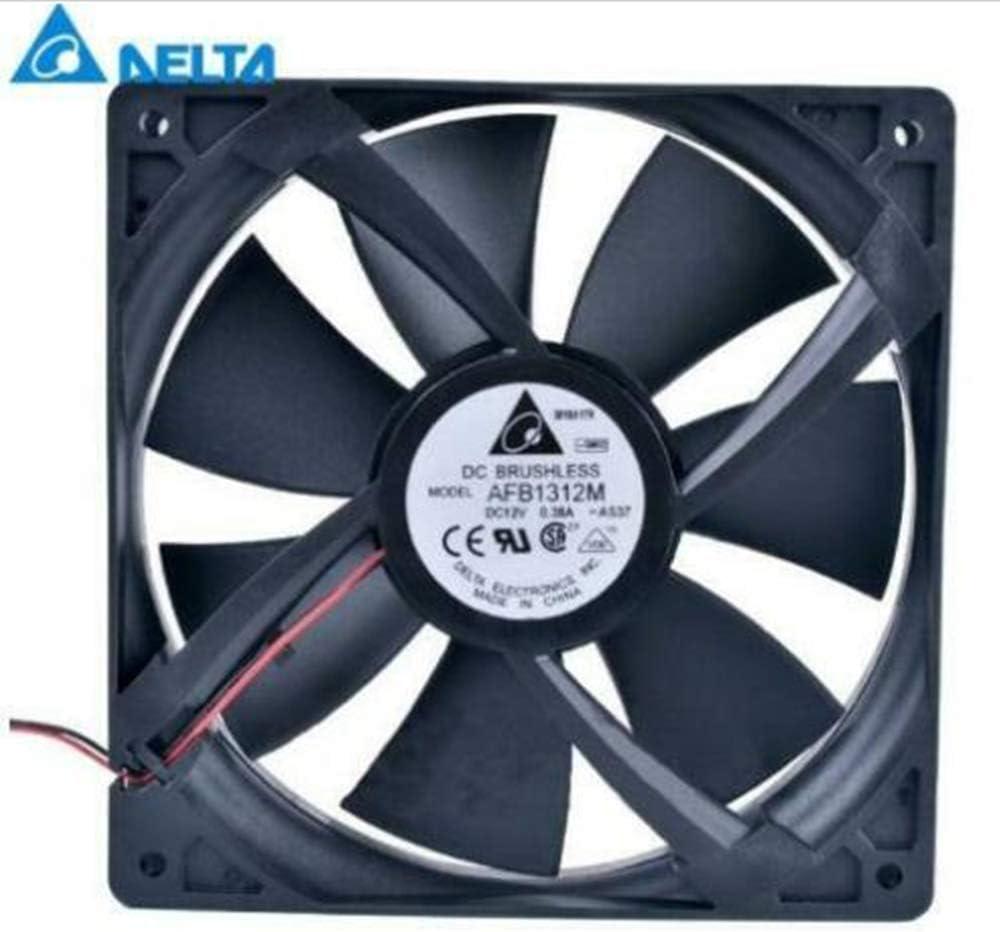 Original Delta AFB1312M DC12V 0.38A 2wires Computer/Server Case Cooling Fan