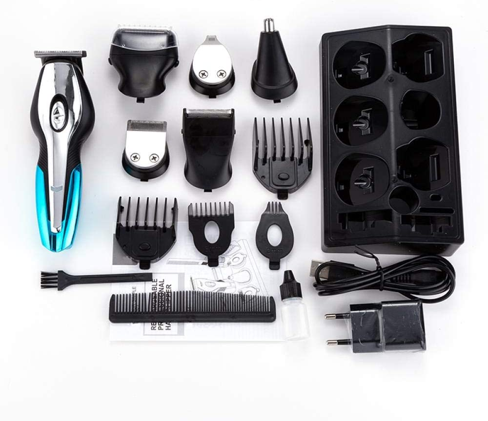 Hair Clippers,Hair Trimmer 6 in 1 Hair Clipper Electric Shaver Beard Trimmer Men Grooming Kit Styling Tools Shaving Machine for Barber Home Black DmHHD