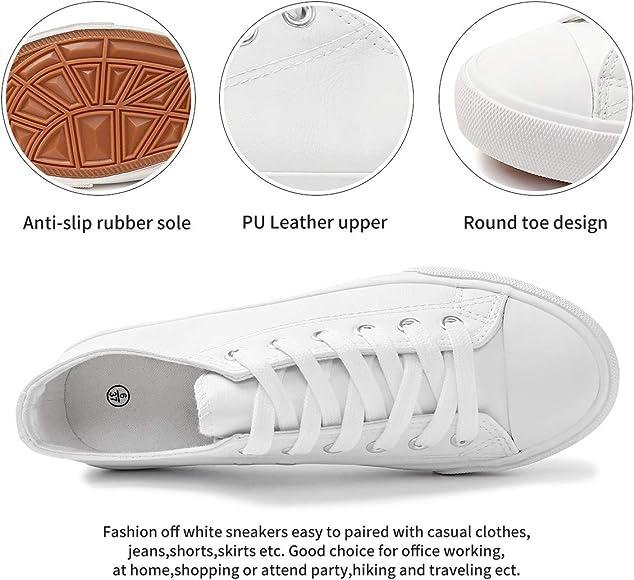 hash bubbie Womens White PU Leather