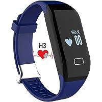 Cardiofrequenzimetro, padgene® H3 Smart-Bracciale Fitness per attività sportiva, con contapassi, funzione pedometro, Sedentary/Call/messaggi promemoria, Track sana Sleep rilevatore calorie e polsini con Android 4,3 o superiori e 6S/6/5S/4S/Smartphone