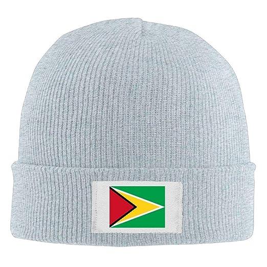 0f4bd60b4 Junnikay Neutral Knit Beanie Hats Flag Guyana Warm Winter Skull Caps ...